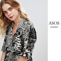 ASOS Leopard Patterns Other Animal Patterns Short Sleeves