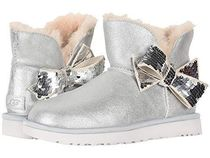 UGG Australia CLASSIC MINI Round Toe Casual Style Fur Plain Ankle & Booties Boots