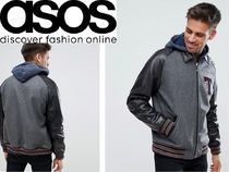 ASOS Short Blended Fabrics Street Style Plain Leather