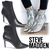 Steve Madden Leather Pin Heels Elegant Style Ankle & Booties Boots