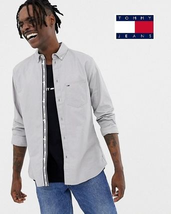 c505e5a86 Tommy Hilfiger. Button-down Street Style Long Sleeves Plain Cotton Shirts   2019 SS