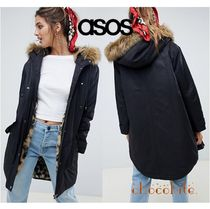 ASOS Leopard Patterns Casual Style Blended Fabrics Street Style