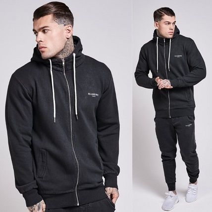 Street Style Long Sleeves Plain Hoodies