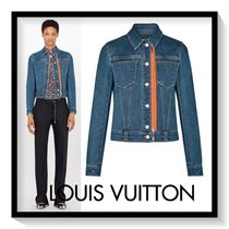 Louis Vuitton Short Casual Style Denim Blended Fabrics Street Style Plain