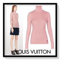 Louis Vuitton Casual Style Silk Rib Long Sleeves Plain Medium Turtlenecks