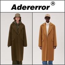 ADERERROR Unisex Wool Street Style Plain Long Chester Coats