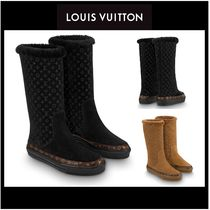 Louis Vuitton Monogram Casual Style Suede Ankle & Booties Boots