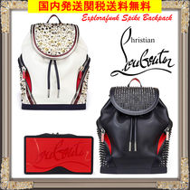 Christian Louboutin Studded Leather With Jewels Backpacks