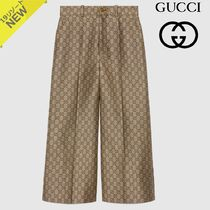 GUCCI Monogram Medium Culottes & Gaucho Pants