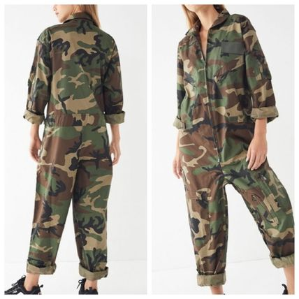 Camouflage Casual Style Unisex Street Style Long Sleeves