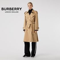 Burberry Plain Long Office Style Trench Coats