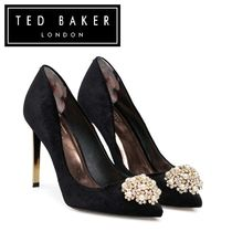 TED BAKER Velvet Plain Pin Heels Party Style Pointed Toe Pumps & Mules