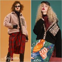 ELF SACK Leopard Patterns Casual Style Blended Fabrics Street Style
