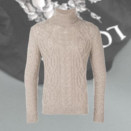85805b0f ... TAGLIATORE Vests & Gillets Cable Knit Wool Street Style Long Sleeves  Plain ...