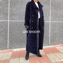 Faux Fur Plain Long Fur Leather Jackets Oversized