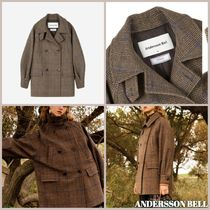 ANDERSSON BELL Other Check Patterns Casual Style Unisex Wool Medium