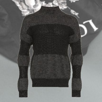 ISSEY MIYAKE Knits & Sweaters Stripes Wool Street Style Long Sleeves Knits & Sweaters