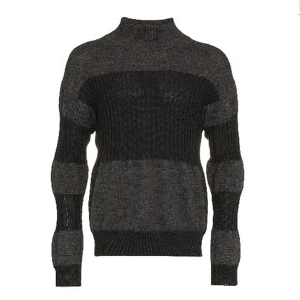 ISSEY MIYAKE Knits & Sweaters Stripes Wool Street Style Long Sleeves Knits & Sweaters 2