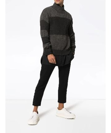 ISSEY MIYAKE Knits & Sweaters Stripes Wool Street Style Long Sleeves Knits & Sweaters 3