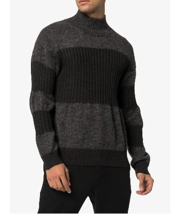 ISSEY MIYAKE Knits & Sweaters Stripes Wool Street Style Long Sleeves Knits & Sweaters 4