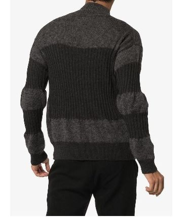 ISSEY MIYAKE Knits & Sweaters Stripes Wool Street Style Long Sleeves Knits & Sweaters 5