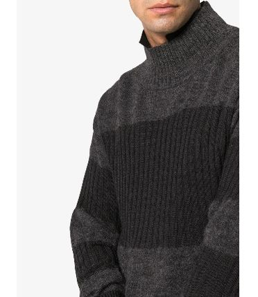 ISSEY MIYAKE Knits & Sweaters Stripes Wool Street Style Long Sleeves Knits & Sweaters 6