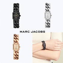 MARC JACOBS Square Quartz Watches Elegant Style Analog Watches