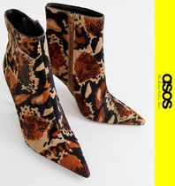ASOS Leopard Patterns Leather Ankle & Booties Boots