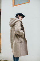 Casual Style Faux Fur Blended Fabrics Long