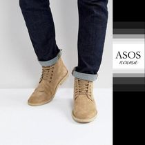 ASOS Blended Fabrics Street Style Leather Boots