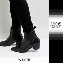 ASOS Blended Fabrics Street Style Leather Chelsea Boots