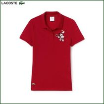 LACOSTE Casual Style Collaboration Cotton Medium Short Sleeves