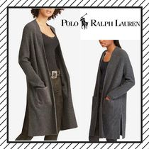 POLO RALPH LAUREN Cable Knit Wool Rib Long Sleeves Plain Long Elegant Style
