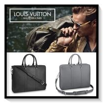 Louis Vuitton A4 2WAY Plain Leather Business & Briefcases