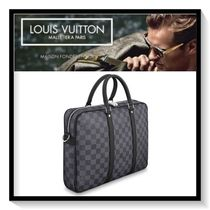 Louis Vuitton Other Check Patterns Canvas A4 2WAY Business & Briefcases