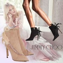 Jimmy Choo Suede Plain Pin Heels Ankle & Booties Boots
