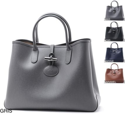 d9397fa00f2b Longchamp Leather Elegant Style Totes by モダンブルーBUYMA店 - BUYMA