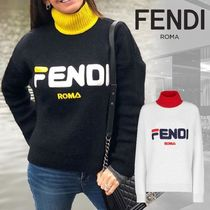 FENDI Casual Style Wool Collaboration Long Sleeves High-Neck