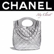 CHANEL MATELASSE Calfskin Street Style 2WAY Chain Plain Elegant Style Totes