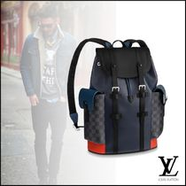 Louis Vuitton Other Check Patterns A4 2WAY Leather Backpacks