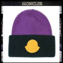 MONCLER Blended Fabrics Street Style Knit Hats