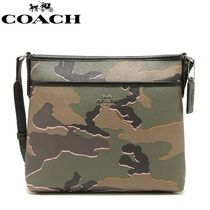 Coach Camouflage Casual Style PVC Clothing Shoulder Bags