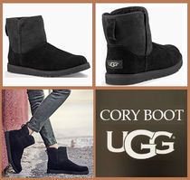 UGG Australia Round Toe Rubber Sole Casual Style Sheepskin Street Style