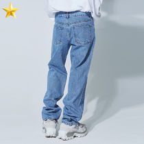 OPEN THE DOOR Unisex Street Style Plain Cotton Jeans & Denim
