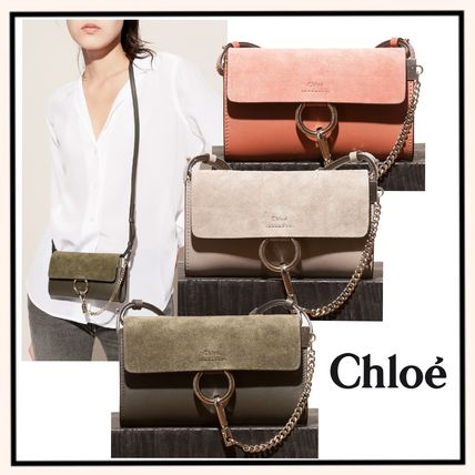 Calfskin 3WAY Plain Elegant Style Shoulder Bags