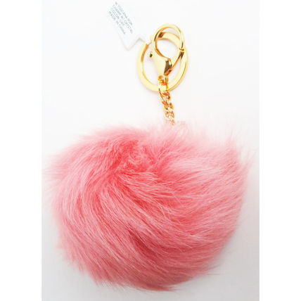 Fur Chain Plain Card Holders