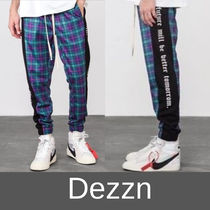 Dezzn Printed Pants Tartan Street Style Patterned Pants