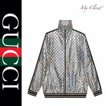GUCCI Short Stripes Street Style Oversized Track Jackets