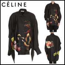 CELINE Casual Style Silk Long Sleeves Shirts & Blouses