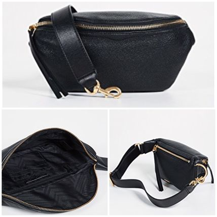 Casual Style Unisex Street Style Plain Leather Shoulder Bags